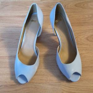 ASOS Pastel Blue Peep Toe Heels US Sz 7 NWOB